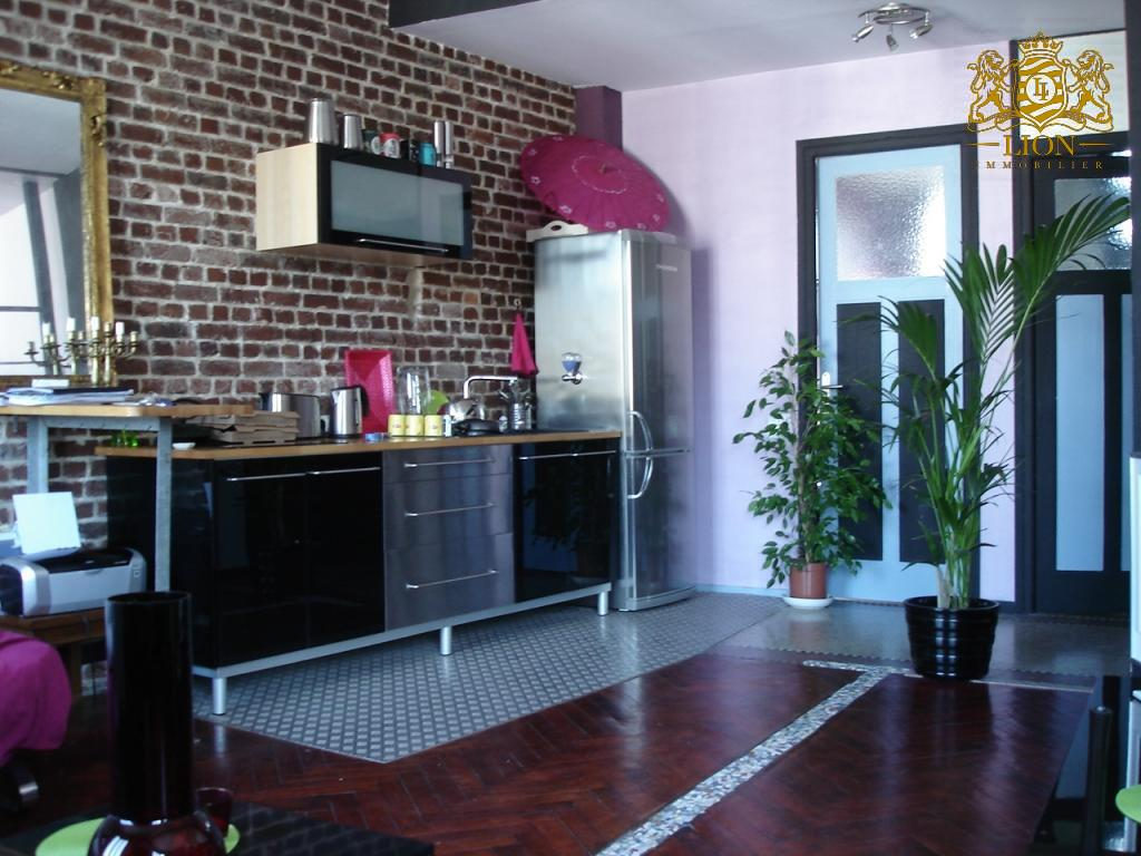 Location appartement 59000 Lille - GRAND T1 BIS STYLE LOFT NON MEUBLE - HYPERCENTRE