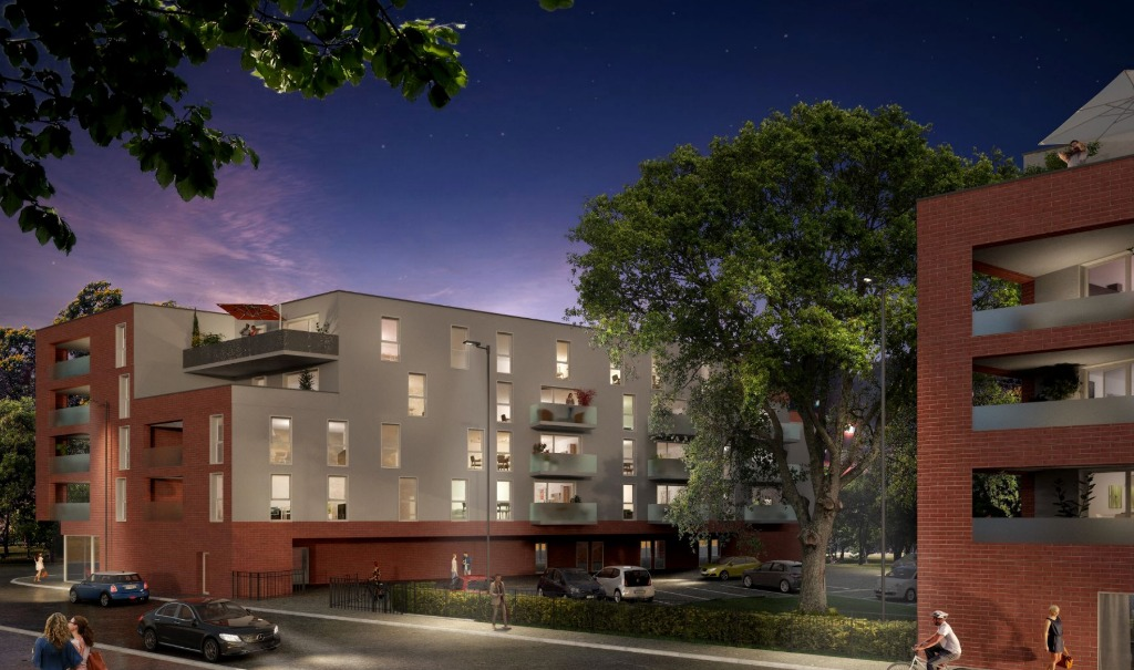 Vente appartement 59790 Ronchin - PINEL Gare de Ronchin T3 dernier étage terrasse