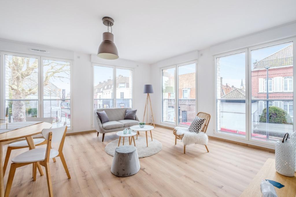 Vente appartement 59420 Mouvaux - Type IV  avec Balcon - Résidence sécurisée