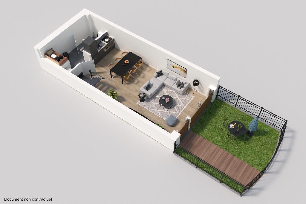 Vente maison 59000 Lille - Maison avec jardin au coeur de Lille Saint Michel