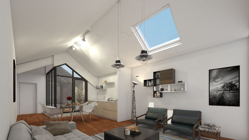 Vente appartement 59000 Lille - Loft vue degagée avec  Patio