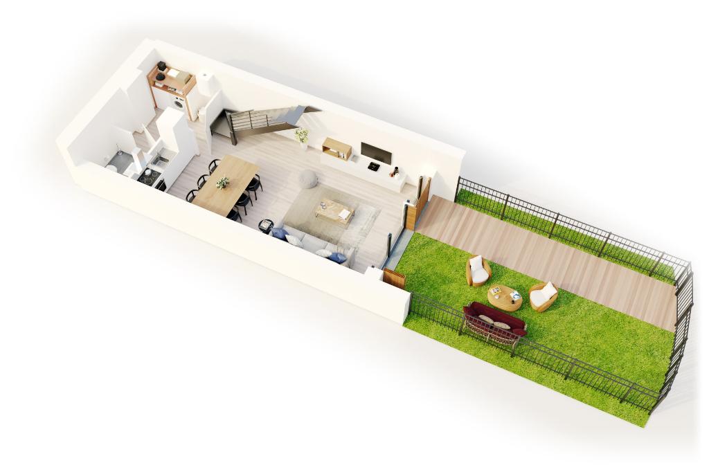 Vente maison 59000 Lille - Maison 2 chambres avec  jardin terrasse et  parking
