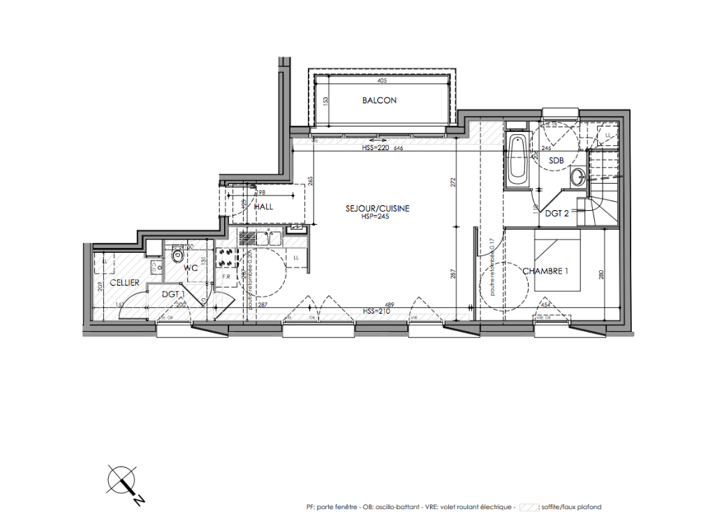 PINEL Romarin La Madeleine 4 pièces 119 m2 dernier étage