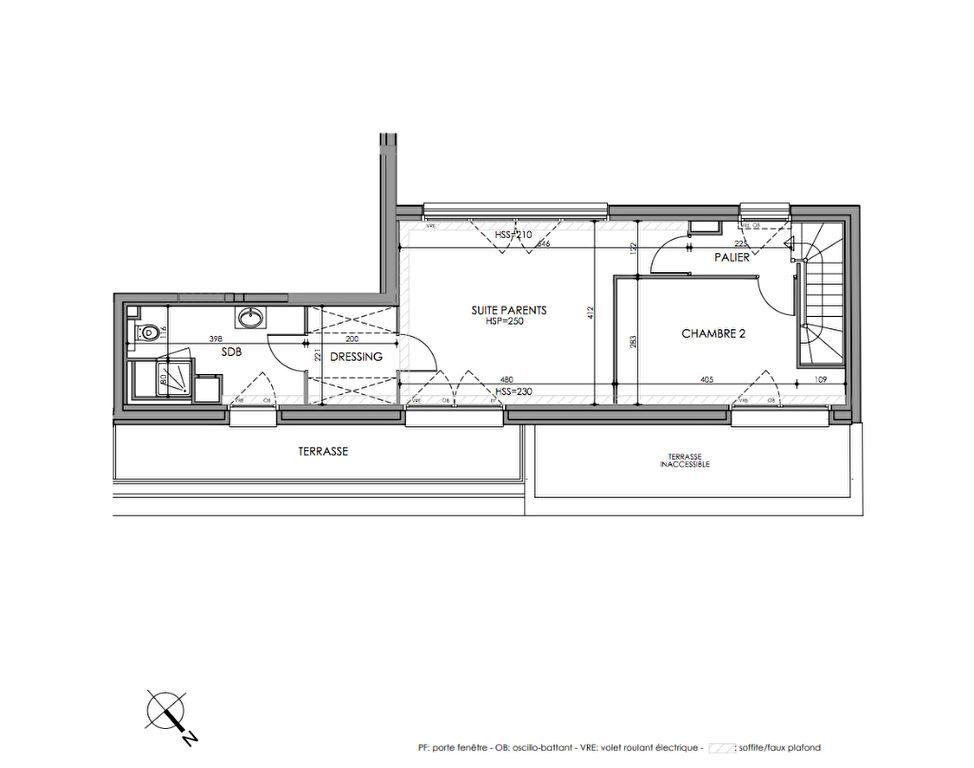 Romarin La Madeleine 4 pièces 119 m2 dernier étage