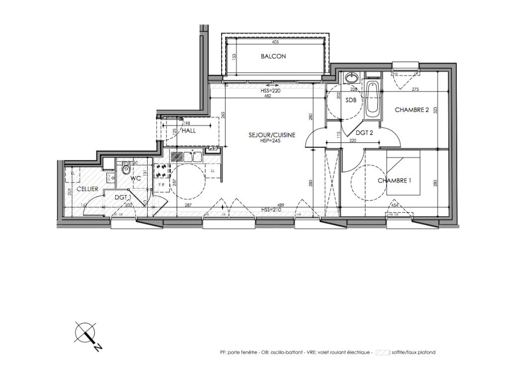 PINEL Romarin La Madeleine 3 pièces 73,3 m2