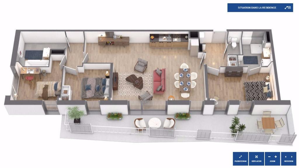 Vente appartement 59000 Lille - Lille - Les Jardins du Cloitre - T4 avec terrasse et stationnement