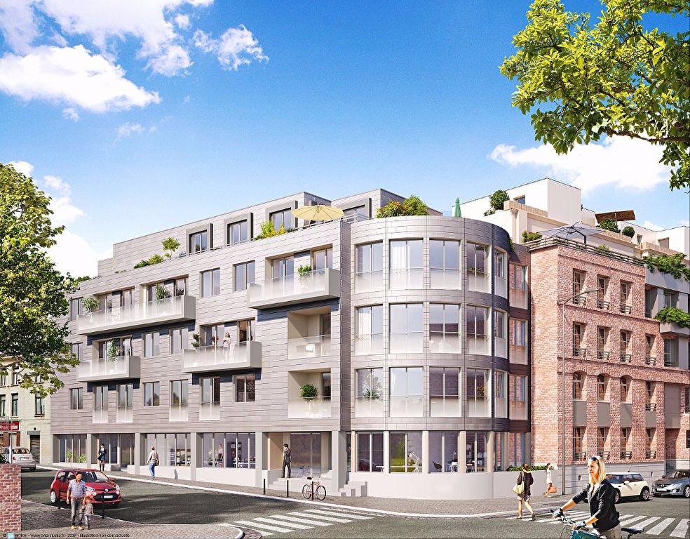 Vente appartement 59000 Lille - T4 de 100 m2 avec terrasse et stationnement de 43 m2