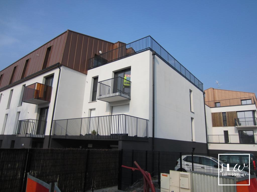 Location appartement 59710 Pont a marcq - T3 non meublé - résidence récente -Garage