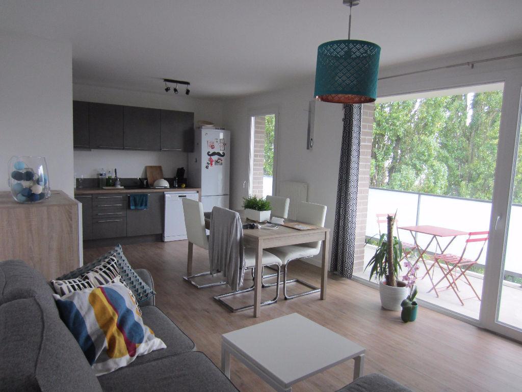 Location appartement 59110 La madeleine - La Madeleine - Type 3 de 67m² non meublé avec garage et terrasse